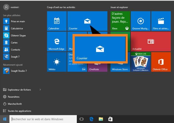 Configurer l'application 'Courrier' de Windows 10