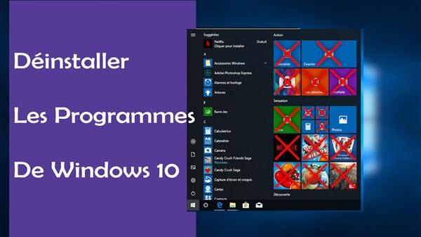 Comment supprimer les programmes inutilisés dans Windows 10
