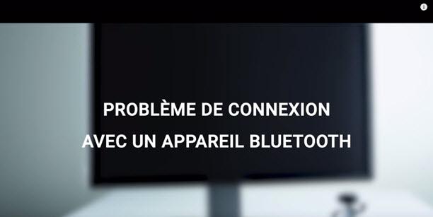 Comment régler un problème de connexion un appareil Bluetooth ?