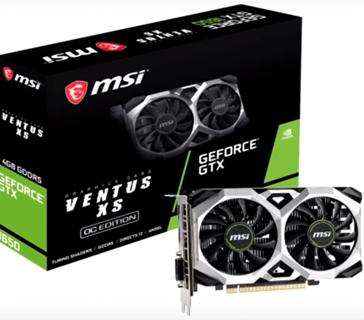 carte graphique msi geforce gtx 1650 4 gigas