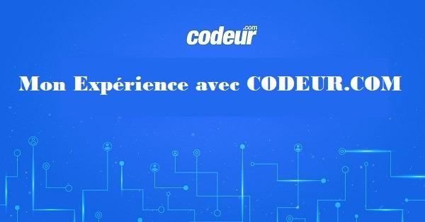 Je me suis inscrit à Codeur.com ,je vous donne mon avis.