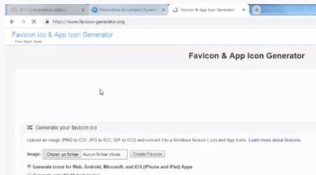 Favicon et App generator