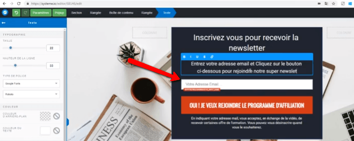 Pages systeme.io