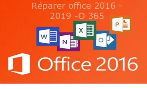 Comment réparer office 2013/ 2016/ 2019 ou office 365 une de ses applications Word Excel PowerPoint pour même Outlook