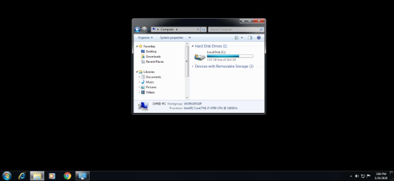 Comment réparer les erreurs du fond du bureau noir sur Windows 7 ?