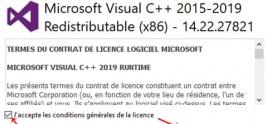 Package redistribuable Visual C ++ à quoi çà sert ? et comment l'installer ?