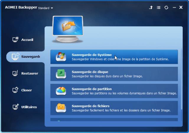 Comment sauvegarder  Windows 10 sur un disque extérieur avec AOMEI Backupper GRATUIT