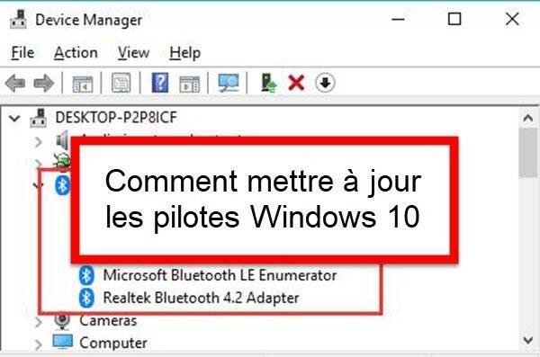 Comment mettre à jour les pilotes Windows 10