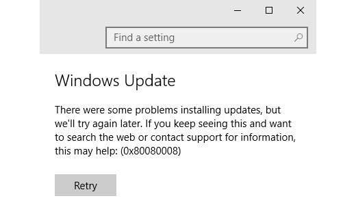Erreur 0x80080008 Windows 10 mise à jour 1709 – Comment installer la mise à jour 1709 pour Windows 10 sans erreurs