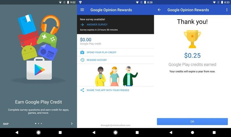 Récompenses d'opinion Google