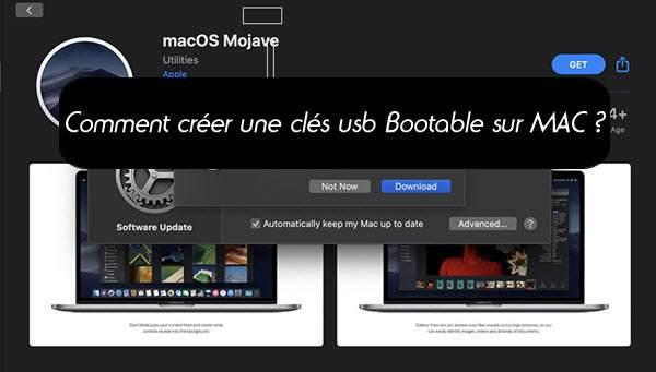 Comment créer une clé USB pour démarrer sur MAC OSX  ?