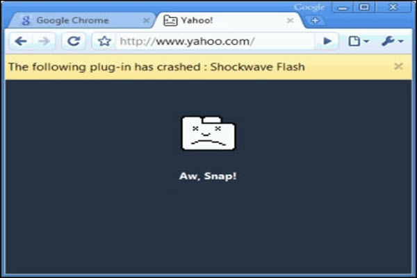 Shockwave Flash Crash