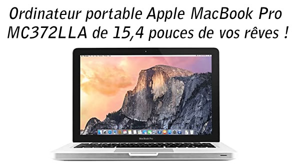 Ordinateur portable Apple MacBook Pro MC372LLA