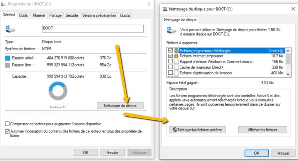 Autres fonctionnalités pour supprimer des fonctions inutiles dans Windows 10