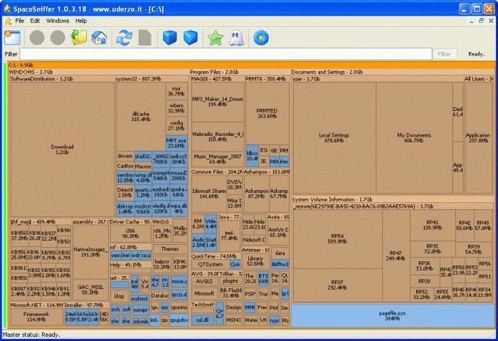 SpaceSniffer offre la meilleure vue graphique Si vous cherchez quelque chose de différent,