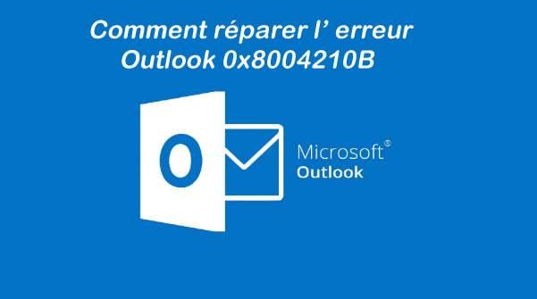 Comment réparer l' erreur Outlook 0x8004210B  ?