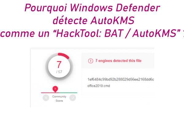 Pourquoi Windows Defender détecte AutoKMS comme un «HackTool: BAT / AutoKMS» ?<div class='yasr-stars-title yasr-rater-stars' id='yasr-visitor-votes-readonly-rater-2913ef1b664e2' data-rating='0' data-rater-starsize='16' data-rater-postid='41064'  data-rater-readonly='true' data-readonly-attribute='true' ></div><span class='yasr-stars-title-average'>0 (0)</span>