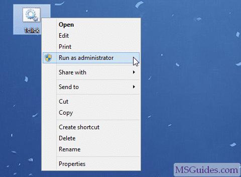 Exécuter le script batch en mode administrateur
