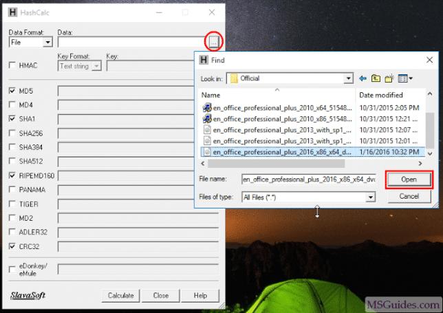 Utilisez l'outil HashCalc pour vérifier l'intégrité du fichier
