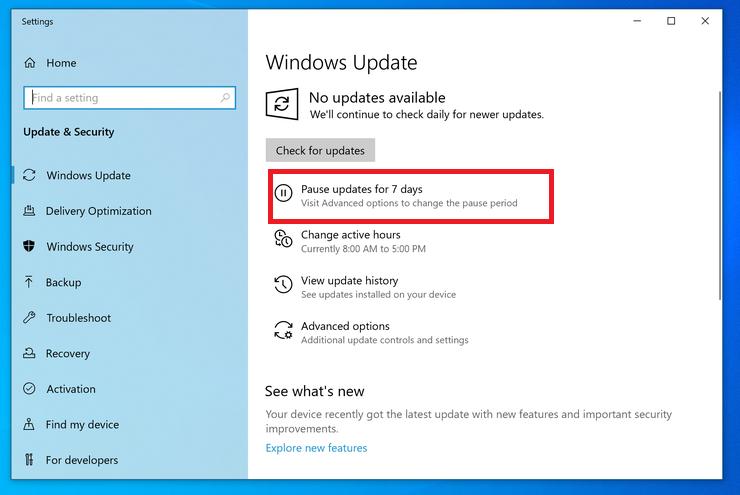 mises à jour Windows