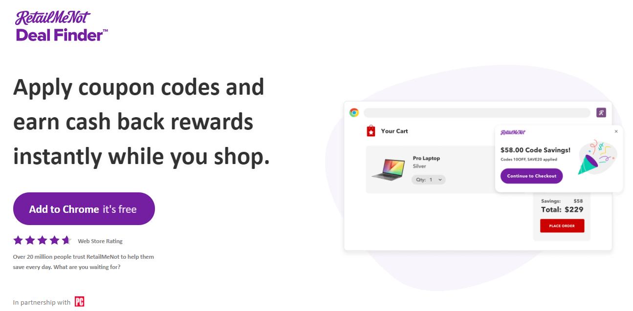 Outil de recherche d'offres RetailMeNot