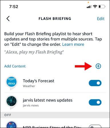 écran de briefing flash