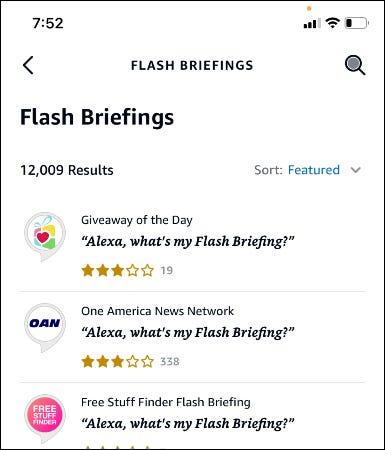 liste de briefing flash