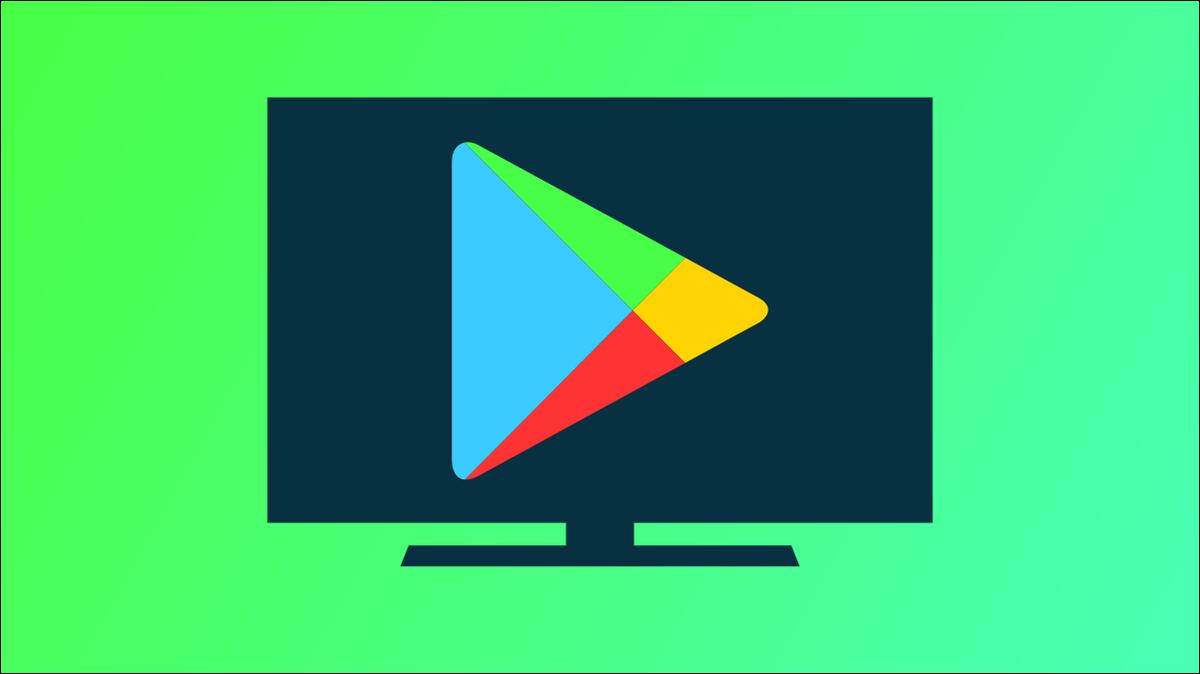 Logo Google Play Store à la télévision.