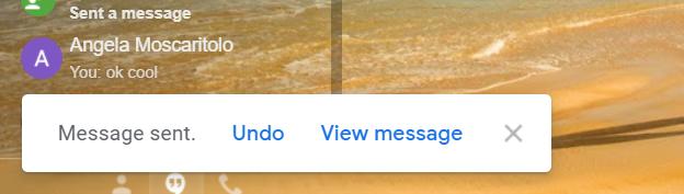 invite d'annulation d'envoi de gmail sur le bureau
