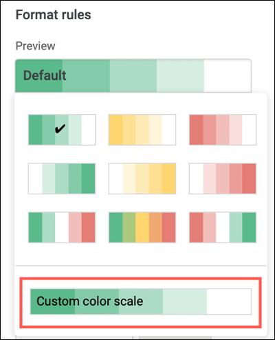 Cliquez sur Échelle de couleurs personnalisée
