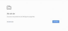 Aie Aie Aie , Comment corriger les erreurs  Aie Aie Aie de Google Chrome dans Windows 10