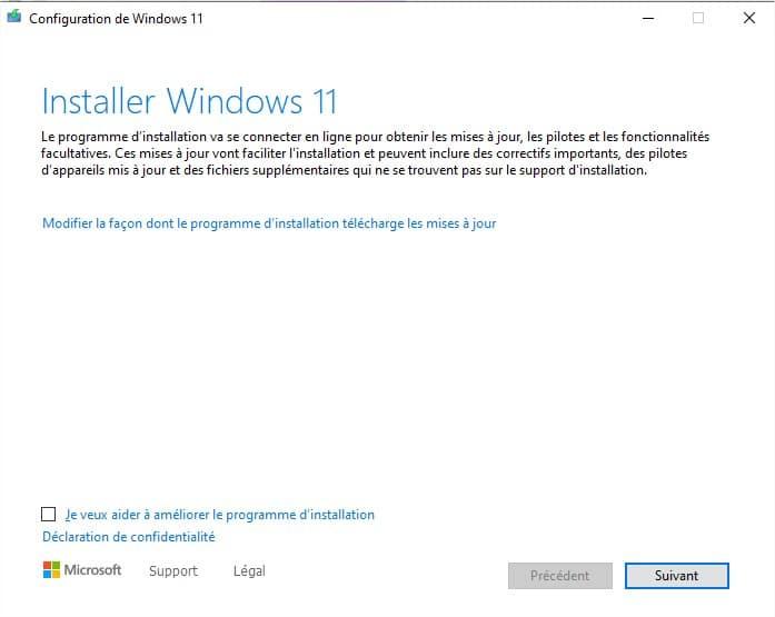 Page d'aide à la migration de Windows 10 vers Windows 11