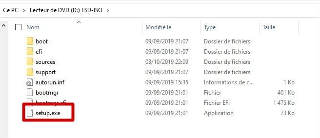 Configuration de Windows 11