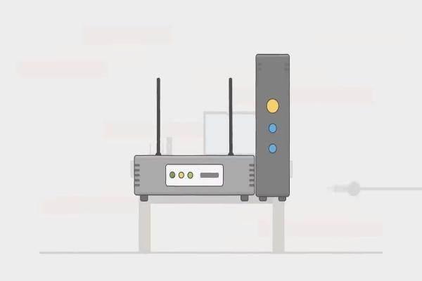 Si le modem a une batterie de secours , les voyants restent allumés après l'avoir débranché