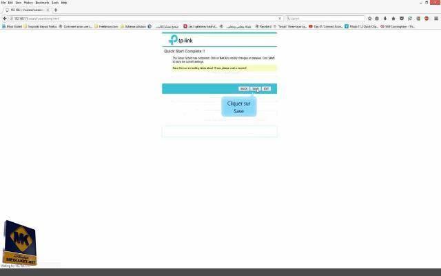 maintenant cliquer sur interface c'est