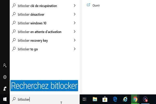 Cliquez sur Gérer BitLocker