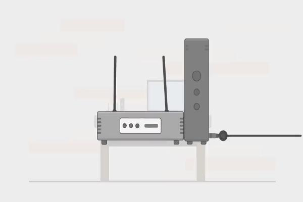 Les voyants du modem devraient commencer à clignoter